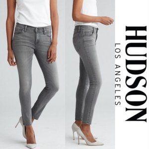 Hudson Krista Super Skinny Gray Denim Jeans 28